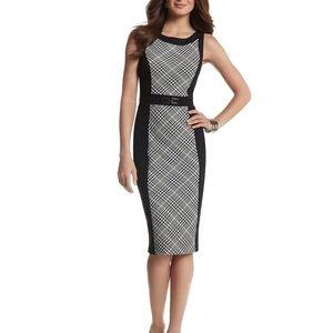 WHBM Plaid/Black Belted Paneled Sheath Dress 2